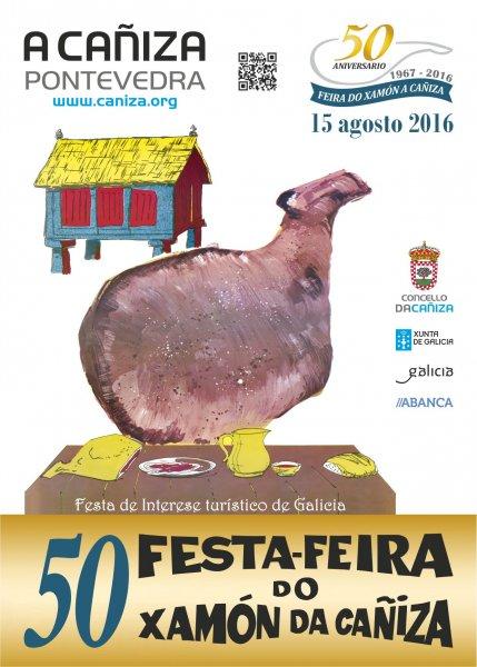Cartel 50 Festa Xamón A Cañiza