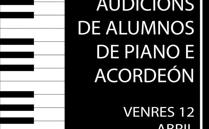 Audición dos alumnos de piano e acordeón na EOI de Vigo