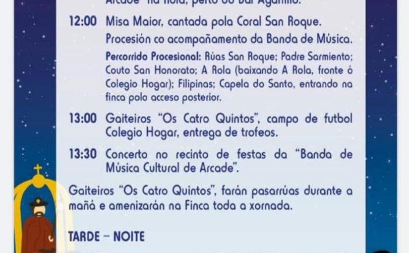 O Fiadeiro nas Festas de San Roque de Vigo 2019